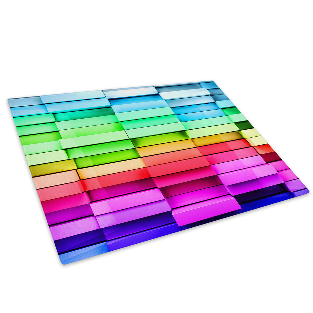 Colourful Cool Funky Glass Chopping Board Kitchen Worktop Saver Protector - AB694-Abstract Chopping Board-WhatsOnYourWall