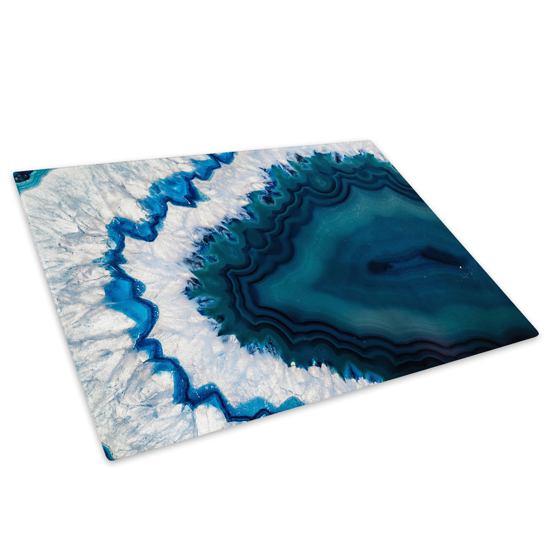 Blue Grey Green Cool Glass Chopping Board Kitchen Worktop Saver Protector - AB803-Abstract Chopping Board-WhatsOnYourWall