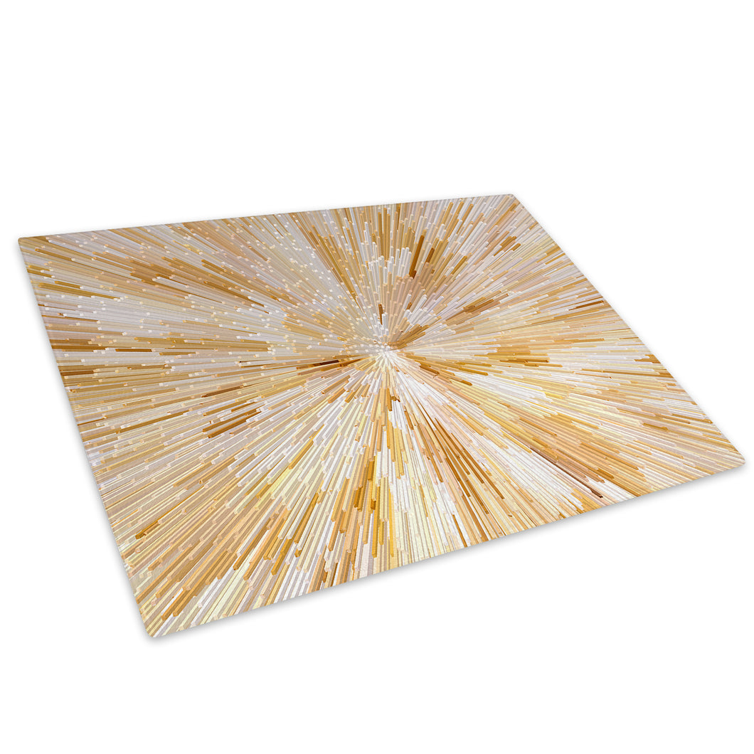 Yellow White Cool Glass Chopping Board Kitchen Worktop Saver Protector - AB831-Abstract Chopping Board-WhatsOnYourWall