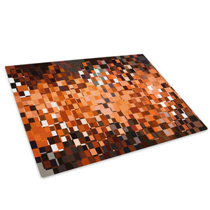 Orange Black White Glass Chopping Board Kitchen Worktop Saver Protector - AB875-Abstract Chopping Board-WhatsOnYourWall