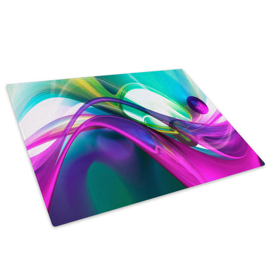 Colourful Cool Funky Glass Chopping Board Kitchen Worktop Saver Protector - AB925-Abstract Chopping Board-WhatsOnYourWall