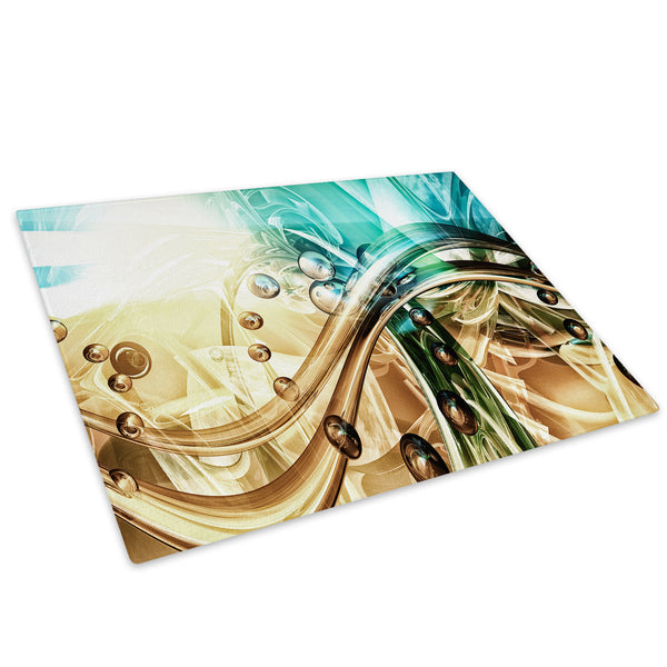 Colourful Cool Funky Glass Chopping Board Kitchen Worktop Saver Protector - AB927-Abstract Chopping Board-WhatsOnYourWall