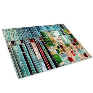 Retro Colourful Funky Glass Chopping Board Kitchen Worktop Saver Protector - AB962-Abstract Chopping Board-WhatsOnYourWall