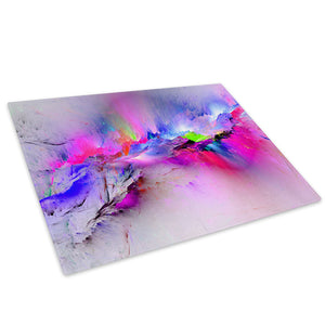 Retro Colourful Cool Glass Chopping Board Kitchen Worktop Saver Protector - AB969-Abstract Chopping Board-WhatsOnYourWall