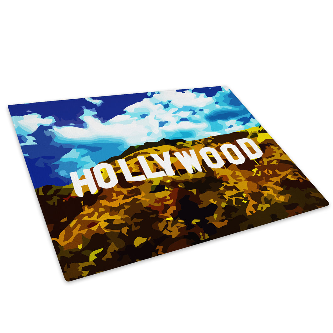 Hollywood Hills Blue White Glass Chopping Board Kitchen Worktop Saver Protector - C002-Scenic Chopping Board-WhatsOnYourWall