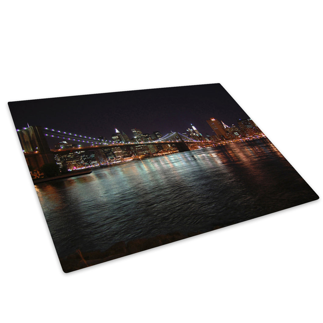 Brooklyn Bridge New York Glass Chopping Board Kitchen Worktop Saver Protector - C003-Scenic Chopping Board-WhatsOnYourWall