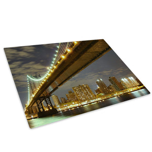 Brooklyn Bridge New York Glass Chopping Board Kitchen Worktop Saver Protector - C006-Scenic Chopping Board-WhatsOnYourWall