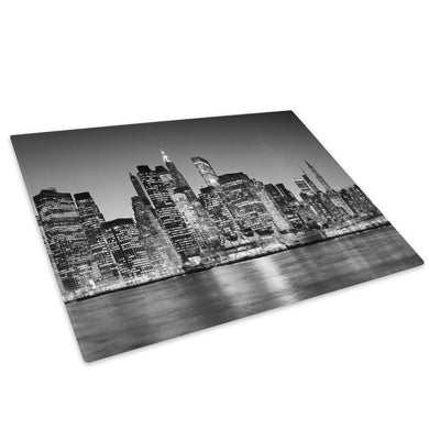 New York City Black White Glass Chopping Board Kitchen Worktop Saver Protector - C007-Scenic Chopping Board-WhatsOnYourWall