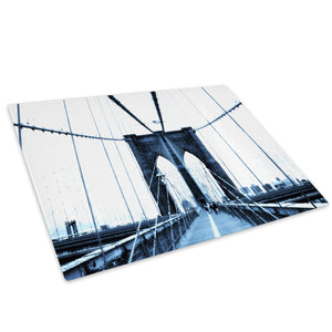 Brooklyn Bridge New York Glass Chopping Board Kitchen Worktop Saver Protector - C009-Scenic Chopping Board-WhatsOnYourWall