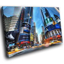SC011 Framed Canvas Print Colourful Modern Scenic Wall Art - New York Time Square Colourful-Canvas Print-WhatsOnYourWall