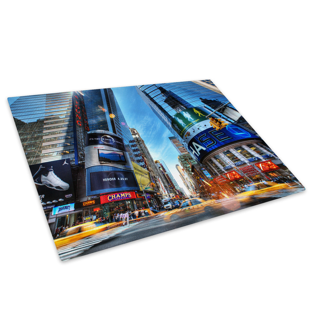 Times Square Colourful Glass Chopping Board Kitchen Worktop Saver Protector - C011-Scenic Chopping Board-WhatsOnYourWall