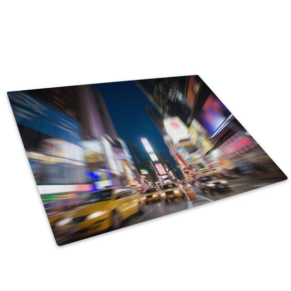 Times Square New York Cool Glass Chopping Board Kitchen Worktop Saver Protector - C015-Scenic Chopping Board-WhatsOnYourWall