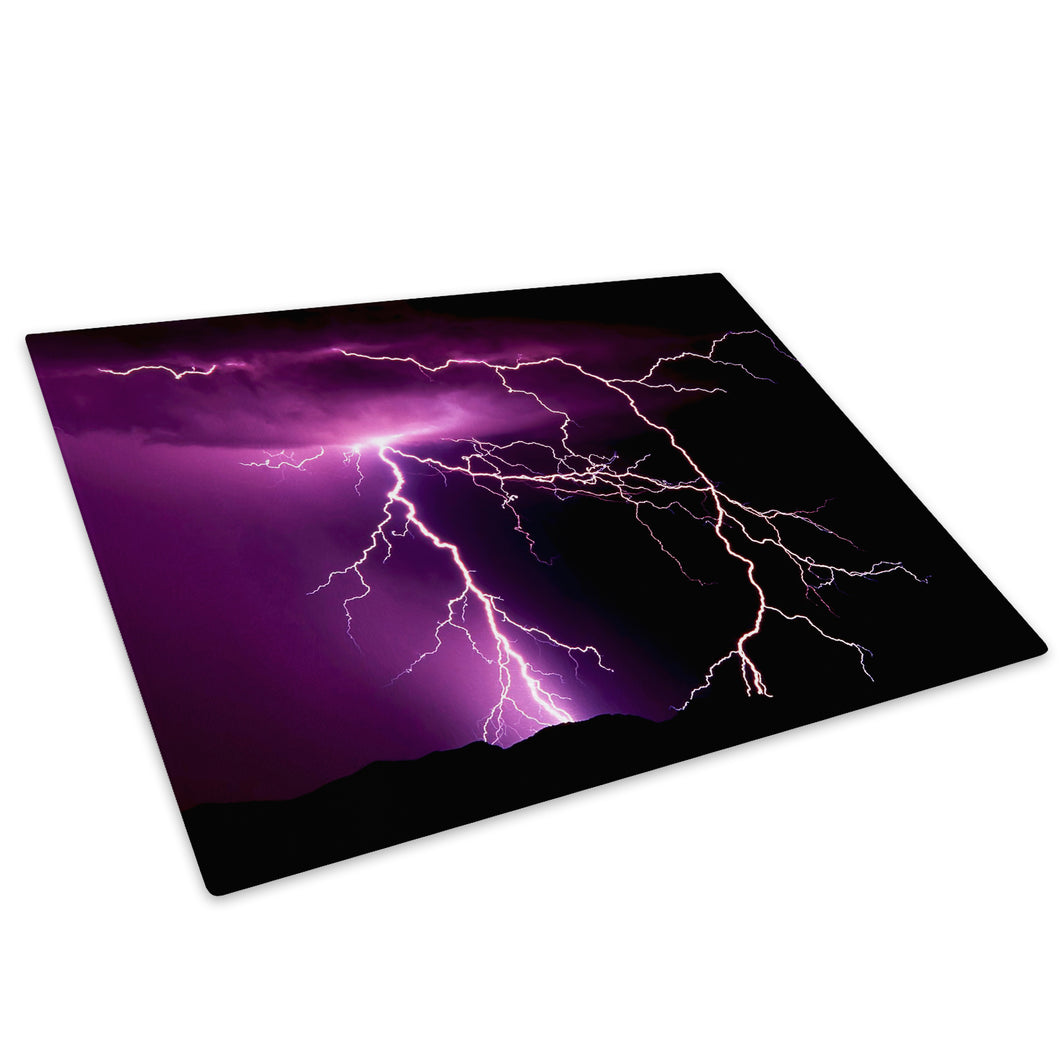 Purple Black White Nature Glass Chopping Board Kitchen Worktop Saver Protector - C018-Scenic Chopping Board-WhatsOnYourWall