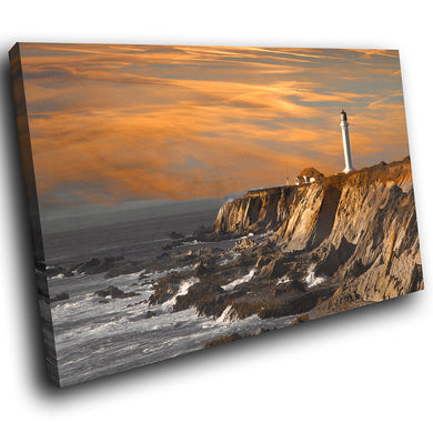 SC022 Framed Canvas Print Colourful Modern Scenic Wall Art - Brown Grey Orange Nature-Canvas Print-WhatsOnYourWall