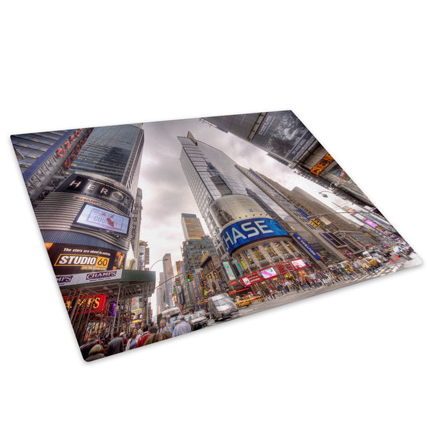 Times Square New York Cool Glass Chopping Board Kitchen Worktop Saver Protector - C031-Scenic Chopping Board-WhatsOnYourWall