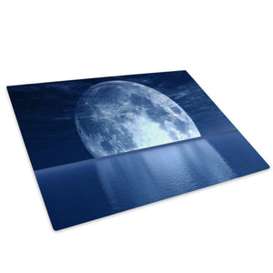 Blue Moon Ocean Nature Cool Glass Chopping Board Kitchen Worktop Saver Protector - C034-Scenic Chopping Board-WhatsOnYourWall