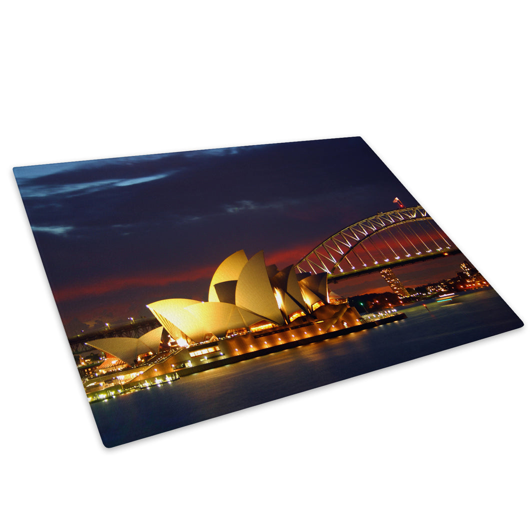 Sydney Opera House Cool Glass Chopping Board Kitchen Worktop Saver Protector - C037-Scenic Chopping Board-WhatsOnYourWall