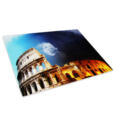 Blue Yellow Moon Rome Glass Chopping Board Kitchen Worktop Saver Protector - C042-Scenic Chopping Board-WhatsOnYourWall