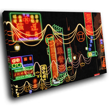 SC047 Framed Canvas Print Colourful Modern Scenic Wall Art - Colourful Chinese Words Cool-Canvas Print-WhatsOnYourWall