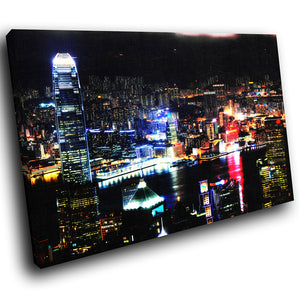 SC048 Framed Canvas Print Colourful Modern Scenic Wall Art - Colourful City Cool Funky-Canvas Print-WhatsOnYourWall