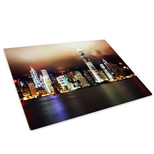 Retro Colourful City Cool Glass Chopping Board Kitchen Worktop Saver Protector - C049-Scenic Chopping Board-WhatsOnYourWall