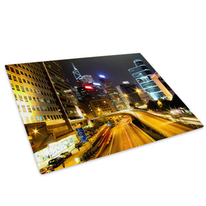Colourful City Cool Funky Glass Chopping Board Kitchen Worktop Saver Protector - C056-Scenic Chopping Board-WhatsOnYourWall