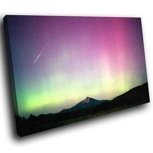 SC057 Framed Canvas Print Colourful Modern Scenic Wall Art - Colourful Stars Retro Nature-Canvas Print-WhatsOnYourWall