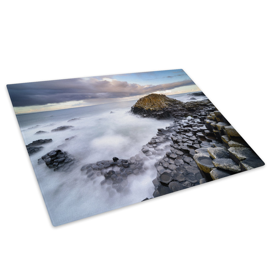 Giants Causeway Ireland Glass Chopping Board Kitchen Worktop Saver Protector - C1000-Scenic Chopping Board-WhatsOnYourWall