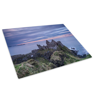 Blue Pink Green Castle Glass Chopping Board Kitchen Worktop Saver Protector - C1002-Scenic Chopping Board-WhatsOnYourWall