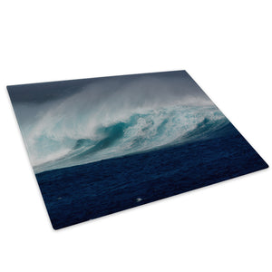 Blue Green White Wave Glass Chopping Board Kitchen Worktop Saver Protector - C1013-Scenic Chopping Board-WhatsOnYourWall