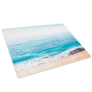 Blue White Wave Beach Glass Chopping Board Kitchen Worktop Saver Protector - C1016-Scenic Chopping Board-WhatsOnYourWall
