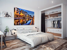 SC134 Framed Canvas Print Colourful Modern Scenic Wall Art - Colourful Venice City Cool-Canvas Print-WhatsOnYourWall