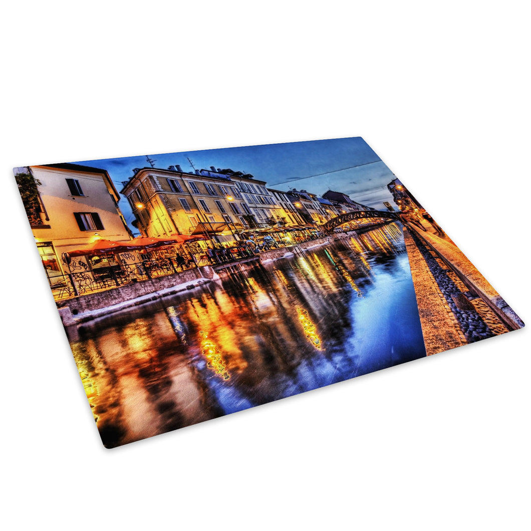Colourful Venice City Cool Glass Chopping Board Kitchen Worktop Saver Protector - C134-Scenic Chopping Board-WhatsOnYourWall