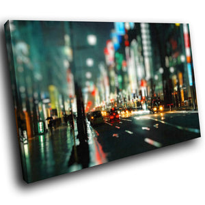 SC145 Framed Canvas Print Colourful Modern Scenic Wall Art - Colourful New York City - WhatsOnYourWall