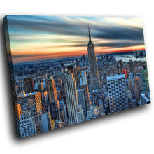 SC149 Framed Canvas Print Colourful Modern Scenic Wall Art - Colourful New York City-Canvas Print-WhatsOnYourWall