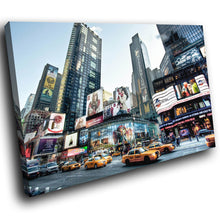 SC169 Framed Canvas Print Colourful Modern Scenic Wall Art - New York City Times Square-Canvas Print-WhatsOnYourWall
