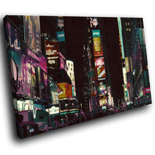 SC171 Framed Canvas Print Colourful Modern Scenic Wall Art - Times Square New York City-Canvas Print-WhatsOnYourWall