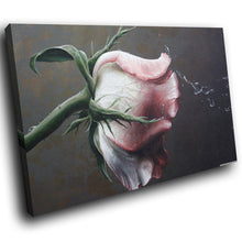 SC261 Framed Canvas Print Colourful Modern Scenic Wall Art - Pink Rose Black Nature Cool-Canvas Print-WhatsOnYourWall