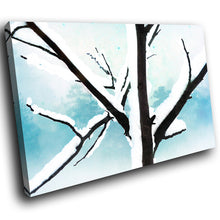 SC269 Framed Canvas Print Colourful Modern Scenic Wall Art - Blue White Black Snow Cool-Canvas Print-WhatsOnYourWall