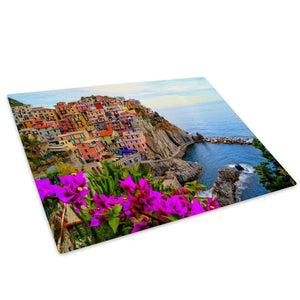 Colourful City Italy Cool Glass Chopping Board Kitchen Worktop Saver Protector - C401-Scenic Chopping Board-WhatsOnYourWall