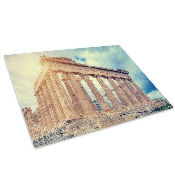 Rome Pantheon Sunset Cool Glass Chopping Board Kitchen Worktop Saver Protector - C525-Scenic Chopping Board-WhatsOnYourWall