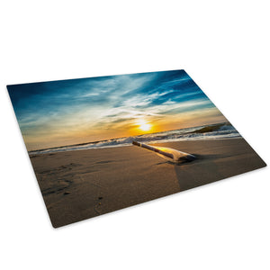 Beach Sea Sunset Bottle Glass Chopping Board Kitchen Worktop Saver Protector - C652-Scenic Chopping Board-WhatsOnYourWall