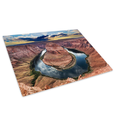 Grand Canyon River Sunset Glass Chopping Board Kitchen Worktop Saver Protector - C712-Scenic Chopping Board-WhatsOnYourWall