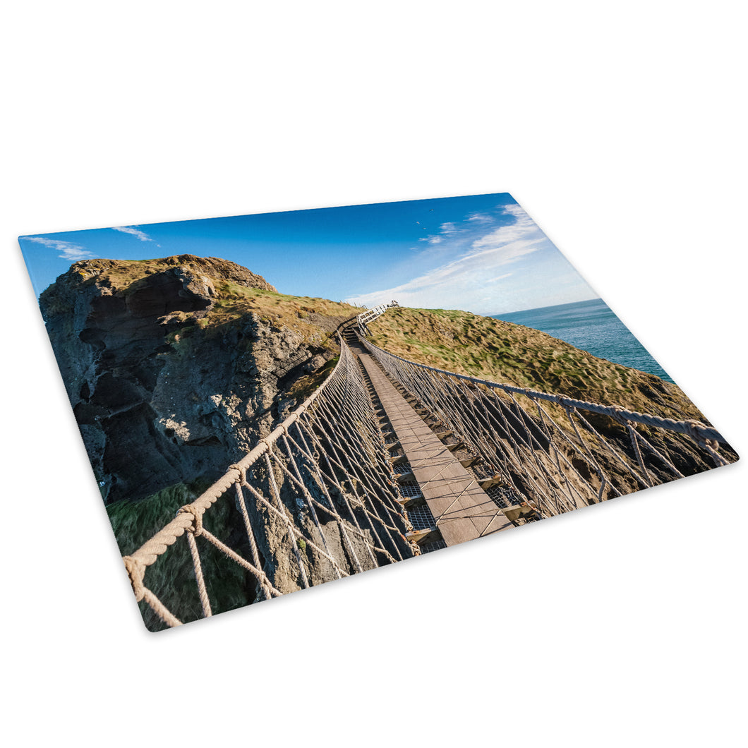 Carrick A Rede Rope Bridge Glass Chopping Board Kitchen Worktop Saver Protector - C986-Scenic Chopping Board-WhatsOnYourWall