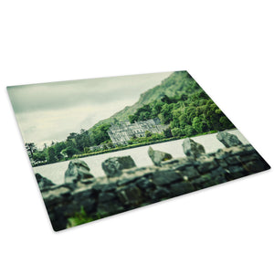 Green Castle Forest Retro Glass Chopping Board Kitchen Worktop Saver Protector - C991-Scenic Chopping Board-WhatsOnYourWall