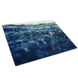 Blue White Ocean Sea Nature Glass Chopping Board Kitchen Worktop Saver Protector - C996-Scenic Chopping Board-WhatsOnYourWall