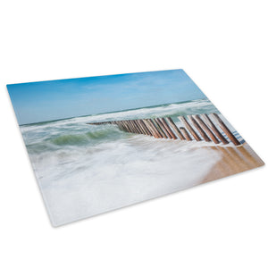 Blue Green Beach Nature Glass Chopping Board Kitchen Worktop Saver Protector - C999-Scenic Chopping Board-WhatsOnYourWall