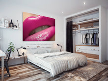 E013 Pink Lips Kiss Funky Cool Erotic Modern Canvas Wall Art Large Picture Print-Canvas Print-WhatsOnYourWall