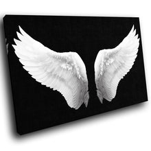 E023 Black White Angel Wings Retro Modern Canvas Wall Art Large Picture Prints-Canvas Print-WhatsOnYourWall