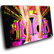 E041 Colourful Carnival Woman Legs Modern Canvas Wall Art Large Picture Prints-Canvas Print-WhatsOnYourWall